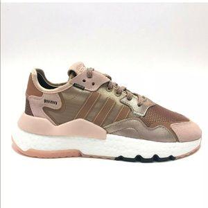 Adidas Nite Jogger Rose Gold Metallic Pink Boost
